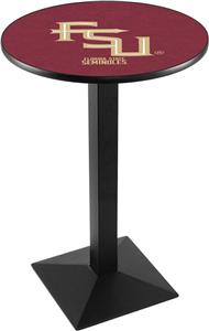 Florida State Script Square Base Pub Table