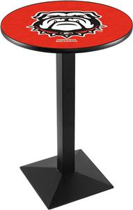 Univ of Georgia Bulldog Square Base Pub Table