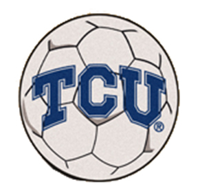 FanMats Texas Christian University Soccer Ball Mat