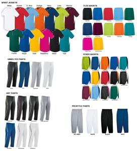 Spirit Two-Button Softball Jersey Uniform Kits