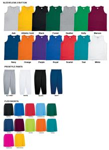 Sleeveless Two-Button Softball Jersey Uniform Kits