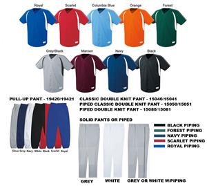 Impact Full-Button Baseball Jersey Uniform Kits