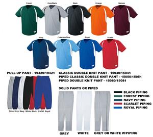 Impact Two-Button Baseball Jersey Uniform Kits