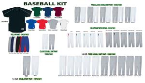 Performance Two-Button Baseball Uniform Kits