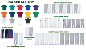 Heavyweight Two-Button Baseball Jersey Uniform Kit
