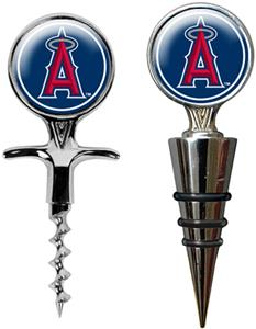 MLB Anaheim Angels Cork Screw & Bottle Topper