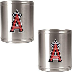 MLB Anaheim Angels Stainless Steel Can Holders Set