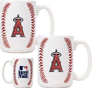 MLB Angels 15oz. Ceramic Gameball Mug Set of 2
