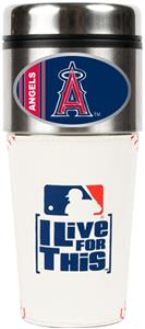 MLB Anaheim Angels Gameball Travel Tumbler