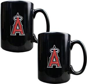 MLB Anaheim Angels 15oz. Ceramic Mug Set of 2
