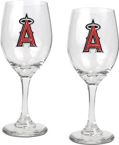 MLB Anaheim Angels 2 Piece Wine Glass Set