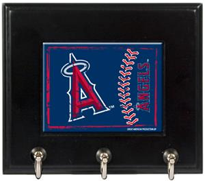 MLB Anaheim Angels Wood Keyhook Rack