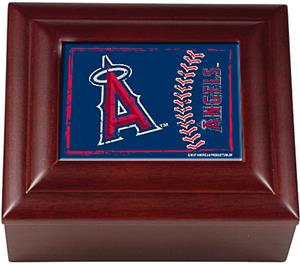 MLB Anaheim Angels Mahogany Keepsake Box