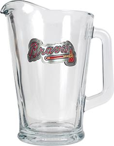 MLB Atlanta Braves 1/2 Gallon Glass Pitcher