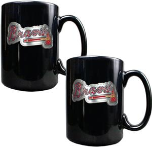 MLB Atlanta Braves 15oz. Ceramic Mug Set of 2
