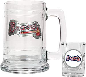 MLB Atlanta Braves Boilermaker Gift Set