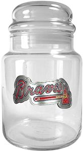 MLB Atlanta Braves Glass Candy Jar