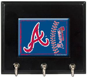 MLB Atlanta Braves Wood Keyhook Rack