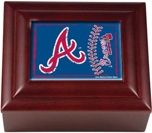 MLB Atlanta Braves Mahogany Keepsake Box