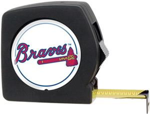 MLB Braves 25' Tape Measure with Crystal Coat Logo