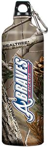 MLB Braves 32oz RealTree Aluminum Water Bottle