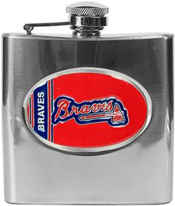 MLB Atlanta Braves 6oz Stainless Steel Flask