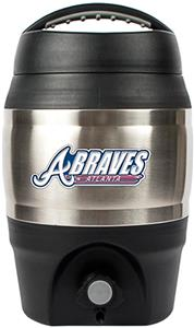 MLB Braves 1gal Tailgate Jug w/Push Button Spout