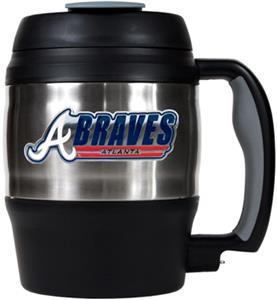 MLB Braves 52oz Stainless Steel Macho Travel Mug