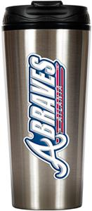MLB Braves 16oz Stainless Steel Travel Tumbler