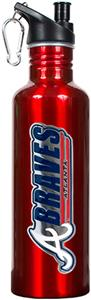 MLB Atlanta Braves 26oz Red Stainless Water Bottle