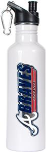 MLB Braves 26oz White Stainless Water Bottle