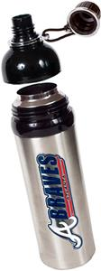 MLB Braves 24oz Stainless Water Bottle w/Black Top