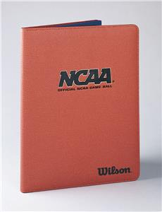 Wilson solution leather basketball notepad