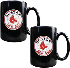 MLB Boston Red Sox 15oz. Ceramic Mug Set of 2