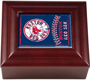 MLB Boston Red Sox Mahogany Keepsake Box