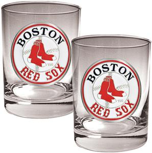 MLB Boston Red Sox 2 piece 14oz Rocks Glass Set