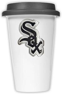 MLB White Sox 12oz Dbl. Wall Ceramic Cup Black Lid