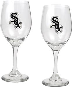 MLB Chicago White Sox 2 Piece Wine Glass Set