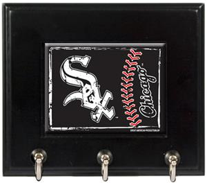 MLB Chicago White Sox Wood Keyhook Rack