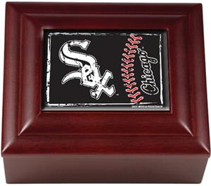 MLB Chicago White Sox Mahogany Keepsake Box
