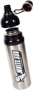 MLB White Sox 24oz Stainless Water Bottle Blk Top