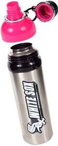 MLB White Sox 24oz Stainless Water Bottle Pink Top