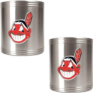 MLB Indians Stainless Steel Can Holders Set
