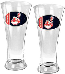 MLB Cleveland Indians 2 Piece Pilsner Glass Set