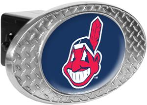 MLB Cleveland Indians Diamond Plate Hitch Cover