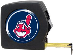 MLB Indians 25' Tape Measure w/Crystal Coat Logo