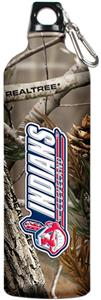 MLB Indians 32oz RealTree Aluminum Water Bottle