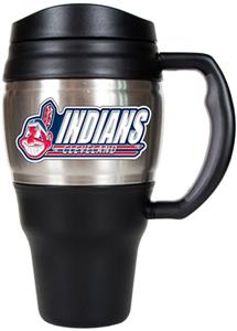 MLB Indians Stainless Steel 20oz Travel Mug