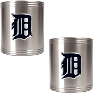 MLB Detroit Tigers Stainless Steel Can Holders Set