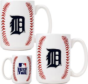 MLB Tigers 15oz. Ceramic Gameball Mug Set of 2